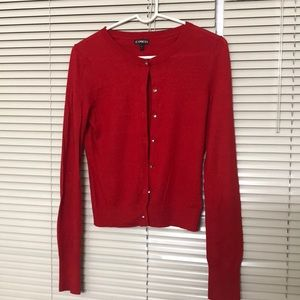 EXPRESS RED CARDIGAN